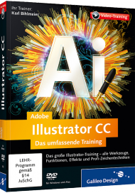 Adobe Illustrator CC (Videotraining), ISBN: 978-3-8362-2435-2, Best.Nr. GP-2435, erschienen 08/2013, € 35,95