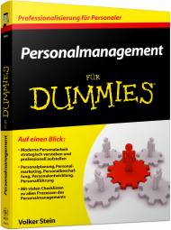 Personalmanagement für Dummies, ISBN: 978-3-527-70642-6, Best.Nr. WL-70642, erschienen 07/2013, € 24,99