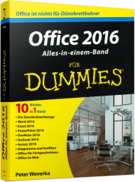 Office 2016 für Dummies - Alles-in-einem-Band, ISBN: 978-3-527-71195-6, Best.Nr. WL-71195, erschienen 03/2016, € 24,99