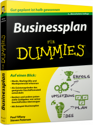 Businessplan für Dummies, ISBN: 978-3-527-71236-6, Best.Nr. WL-71236, erschienen 04/2016, € 24,99