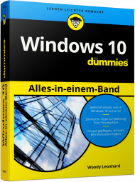 Windows 10 für Dummies - Alles-in-einem-Band, ISBN: 978-3-527-71380-6, Best.Nr. WL-71380, erschienen 03/2017, € 32,99