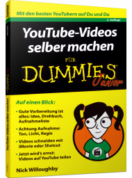 YouTube-Videos selber machen für Dummies Junior, ISBN: 978-3-527-71495-7, Best.Nr. WL-71495, erschienen 08/2018, € 11,99