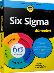 Six Sigma für Dummies, ISBN: 978-3-527-71534-3, Best.Nr. WL-71534, erschienen 06/2018, € 29,99