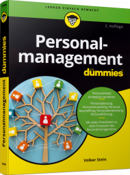 Personalmanagement für Dummies, ISBN: 978-3-527-71728-6, Best.Nr. WL-71728, erschienen 04/2020, € 25,00