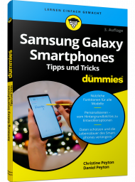 Samsung Galaxy Smartphones Tipps & Tricks für Dummies Pocketbuch, ISBN: 978-3-527-71749-1, Best.Nr. WL-71749, erschienen 03/2020, € 12,99