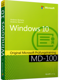 MS-718, Windows 10, Buch von MS Press (dpunkt) mit 428 S., EUR 54,90 (ET 12/19) 978-3-86490-718-0