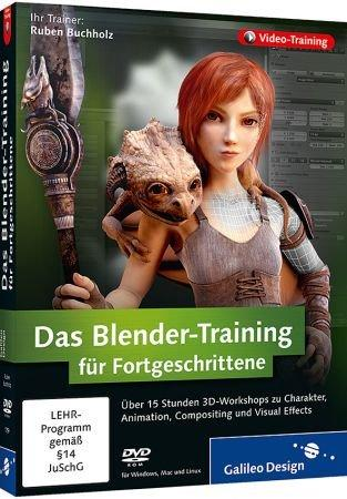 Das Blender-Training f�r Fortgeschrittene - Video-Training - 3D-Workshops zu Charakter, Animation, Compositing, Visual Effects / Trainer:  , 978-3-8362-1759-0