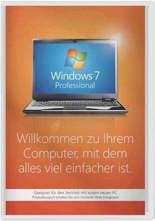 Windows 7 Professional 32 Bit SP1 - System Builder-Version - Vollversion - ohne Microsoft-Support /   ,