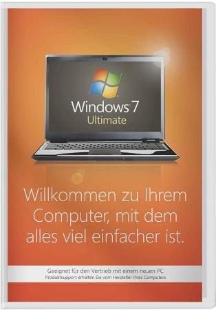 Windows 7 Ultimate 32 Bit SP1 - System Builder-Version - Vollversion - ohne Microsoft-Support /   ,