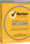 Norton Security Premium mit Backup f�r 10 Ger�te
