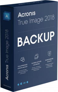 True Image 2018 Standard 1 PC/MAC, Dauerlizenz - Box, EAN: 4260019575456, Best.Nr. AC-400, erschienen 08/2017, € 19,99