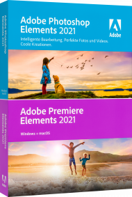 Adobe Photoshop & Premiere Elements 2021 für Win & Mac, EAN: 5051254655879, Best.Nr. AD-313062, erschienen 10/2020, € 119,95
