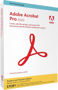 Adobe Acrobat Pro 2020 für Windows Student & Teacher Ed. (ESD), Best.Nr. ADO312080, erschienen 06/2020, € 93,95