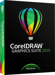 CorelDRAW Graphics Suite 2019 für Windows - Upgrade, EAN: 0735163154375, Best.Nr. CO-391, erschienen 03/2019, € 299,00