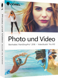 Corel Foto und Video Suite 2018 - Alles in einem (Download), Best.Nr. COO346, erschienen 09/2017, € 79,95