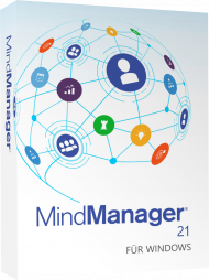 MindManager für Windows Version 21 (Download), Best.Nr. COO428, erschienen 10/2020, € 399,95