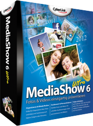 CyberLink MediaShow 6 Ultra - Upgrade von Version 4 oder 5, Best.Nr. CY-117, erschienen 05/2012, € 37,95