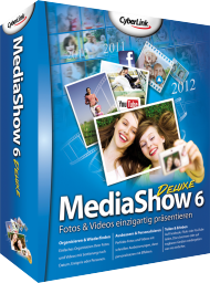 CyberLink MediaShow 6 Deluxe für Windows, Best.Nr. CY-118, erschienen 05/2012, € 37,95