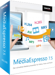 CyberLink MediaEspresso 7.5 für Windows, Best.Nr. CY-225, erschienen 05/2016, € 24,95