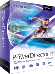 CyberLink PowerDirector 15 Ultimate UPG v. 11-14 Ultimate, Best.Nr. CY-235, € 69,95