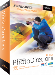 CyberLink PhotoDirector 8 Ultra für Windows und Mac, Best.Nr. CY-241, € 39,95