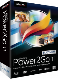 CyberLink Power2Go 11 Platinum für Windows, Best.Nr. CY-247, € 39,95