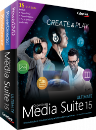 CyberLink Media Suite 15 Ultimate UPG v 11-14 Ultimate, Best.Nr. CY-257, € 49,95