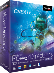 CyberLink PowerDirector 16 Ultimate für Windows, Best.Nr. CY-263, erschienen 10/2017, € 79,95