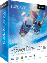CyberLink PowerDirector 16 Ultra UPG v. 11-15 Ultra, Best.Nr. CY-266, € 49,95