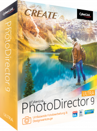 CyberLink PhotoDirector 9 Ultra UPG v. 5-8 Ultra, Best.Nr. CY-269, erschienen 10/2017, € 44,70