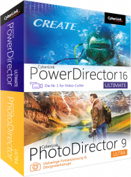 CyberLink Ultimate Duo PhotoDirector9 Ultra&PowerDirector16 Ultim, Best.Nr. CY-272, € 129,00