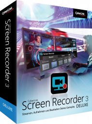 CyberLink Screen Recorder 3 Deluxe für Windows, Best.Nr. CY-274, erschienen 04/2018, € 35,70