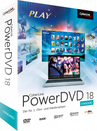 CyberLink PowerDVD 18 Standard für Windows, Best.Nr. CY-278, erschienen 04/2018, € 39,95