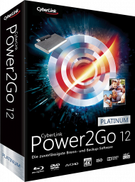 CyberLink Power2Go 12 Platinum für Windows, Best.Nr. CY-279, erschienen 06/2018, € 54,95