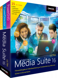 CyberLink Media Suite 16 Ultra für Windows, Best.Nr. CY-281, erschienen 06/2018, € 69,95