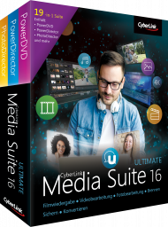CyberLink Media Suite 16 Ultimate UPG v 10-15 Ultimate, Best.Nr. CY-284, erschienen 06/2018, € 69,95