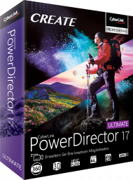 CyberLink PowerDirector 17 Ultimate für Windows, Best.Nr. CY-289, erschienen 09/2018, € 99,00