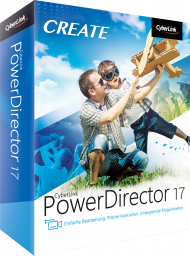 CyberLink PowerDirector 17 Standard für Windows, Best.Nr. CY-293, erschienen 09/2018, € 49,95