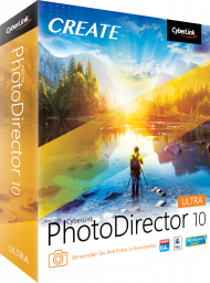 CyberLink PhotoDirector 10 Ultra für Windows & Mac, Best.Nr. CY-294, erschienen 09/2018, € 79,95