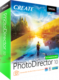 CyberLink PhotoDirector 10 Standard für Windows, Best.Nr. CY-296, erschienen 09/2018, € 44,95