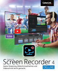 CyberLink Screen Recorder 4 Deluxe für Windows (Download), Best.Nr. CY-300, erschienen 02/2019, € 39,95