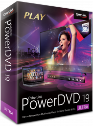 CyberLink PowerDVD 19 Ultra Upgrade, Best.Nr. CY-303, erschienen 04/2019, € 39,95