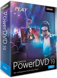 CyberLink PowerDVD 19 Pro für Windows, Best.Nr. CY-304, erschienen 04/2019, € 64,95