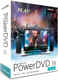 CyberLink PowerDVD 19 Standard für Windows, Best.Nr. CY-305, erschienen 04/2019, € 39,95