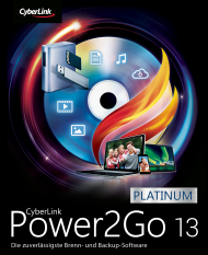 CyberLink Power2Go 13 Platinum für Windows, Best.Nr. CY-306, erschienen 06/2019, € 44,95