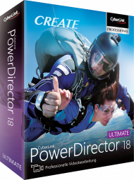 CyberLink PowerDirector 18 Ultimate für Windows, Best.Nr. CY-311, erschienen 09/2019, € 99,95