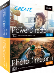 CyberLink PowerDirector 18 Ultra & PhotoDirector 11 Ultra Duo, Best.Nr. CY-315, erschienen 09/2019, € 99,95