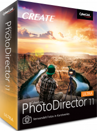 CyberLink PhotoDirector 11 Ultra für Windows, Best.Nr. CY-317, erschienen 09/2019, € 79,95