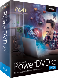 CyberLink PowerDVD 20 Pro für Windows, Best.Nr. CY-324, erschienen 04/2020, € 59,95