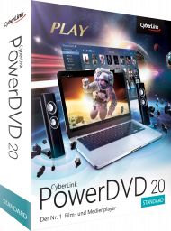 CyberLink PowerDVD 20 Standard für Windows, Best.Nr. CY-325, erschienen 04/2020, € 39,95